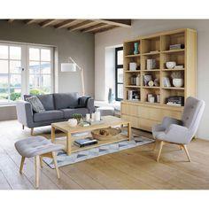 Canapé 2/3 places en tissu gris ... - Nils