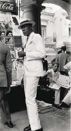 A citizen in downtown Havana, Cuba (1933), by Walker Evans (1903-1975)