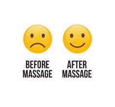 Before massage :( After massage :)