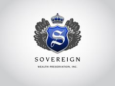 #LogoDesign for Sovereign Wealth Preservation Inc. Nothing compares to cool grays. It's classic.