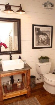 Modern Farmhouse Bathroom Vanity Design Ideas 46
