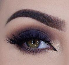 Olho esfumado, azul escuro, dourado