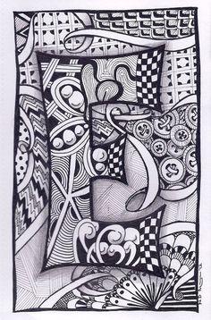 Zentangle Letter N Zebra Letters name bunting door ForeverTangles