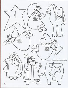"Molde Presépio de FeltroPresépio de Feltro-translation says ""crib de felt""? could these be used to make felt cut outs for a sunday school flannel graph Nativity Crafts, Christmas Projects, Felt Crafts, Christmas Crafts, Christmas Decorations, Nativity Ornaments, Felt Christmas Ornaments, Christmas Nativity, Christmas Sewing"
