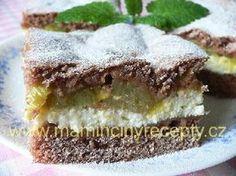 Křehký  rebarborový koláč Chocolate Dome, Tiramisu, Sweet Recipes, Cooker, Cheesecake, Food And Drink, Treats, Baking, Desserts