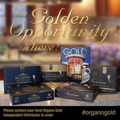 We are proud to announce the 'GOLDen Opportunity', an exciting new Limited Edition Promo Pack just in time to support your holiday sales! From November 25th to December 5th, Distributors will be able to get their hands on this exciting Promo Pack! www.organogold.com