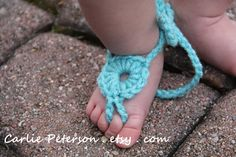 Ring Baby Barefoot Sandals. $12.00, via Etsy.