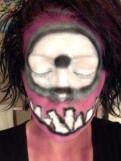 Minion face makeup