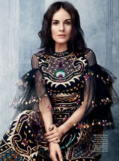 Michelle Dockery By David Slijper For Harper's Bazaar UK October 2015: myfashion_diary