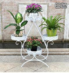 70 * 28 * 79 cm europeu varanda vasos fower prateleira suporte de jardim planta flor pergolados metal ferro prateleira
