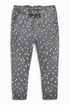 Grey Printed Soft Trousers (3mths-6yrs)