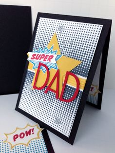 The Calling All Heroes stamp set is perfect for a Father's Day card! #stampinup  Card by Melody Hyde