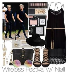 """""""Wireless Festival w/ Niall"""" by ana-a-m ❤ liked on Polyvore featuring River Island, Forever New, Topshop, Dune, NARS Cosmetics, Forever 21 and By Malene Birger"""
