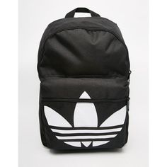 adidas Originals Classic Backpack in Black (89.055 COP) ❤ liked on Polyvore featuring bags, backpacks, knapsack bag, adidas backpack, rucksack bag, day pack backpack and adidas