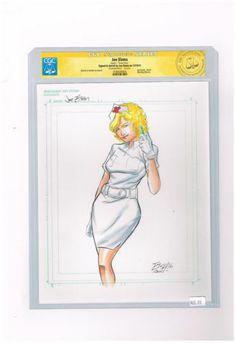 """ORIGINAL ART: CGC Signature Series """"Nurse Nine"""" by Joe Eisma! http://r.ebay.com/EU5Rhl"""
