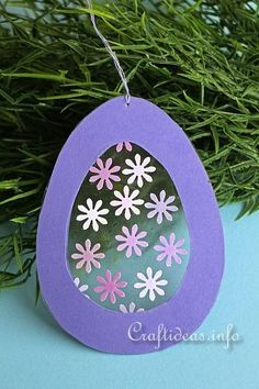 Easter Craft for Kids - Transparent Easter Egg Window Decoration 3