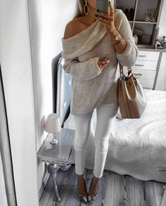 sooo excited about off the shoulder sweaters and neutrals this fall!