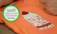 Camiseta com molde de lápis em Fast Patch - Valéria Souza
