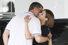 The royal couple shares a sweet hug. The Best Photos of the Spanish Royal Family in 2015