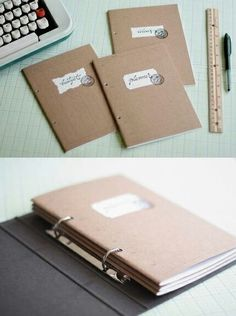 Free Paper Organizer projekte mit kupfer 10 DIY Projects for Your Office - Pretty Designs Filofax, Planner Organization, Book Binding, Free Paper, Organizer, Getting Organized, Stationery, Notes, Bullet Journal
