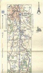 Paris- Bucarest: Carte de Route. Paris: Air France, 1930 ...