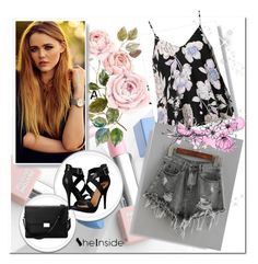 """""""Sheinside Grey Shorts - Contest"""" by nedim-848 ❤ liked on Polyvore featuring Michael Antonio, Aspinal of London, Ally Fashion, Sephora Collection and Karlsson"""