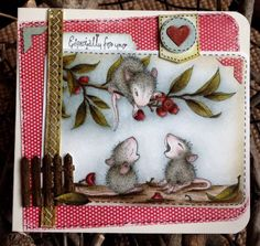 Hi..a House Mouse make for  a class I have on Saturday at SirStampalot,  love this image so much  and this sweet one is great for Autumn...
