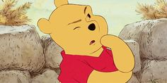 Think, think, think! Winnie Poo, Winnie The Pooh Gif, Cute Cartoon Characters, Cartoon Memes, Old Disney, Disney Fun, Pooh Bear, Tigger, Gifs