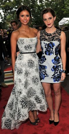 Nina Dobrev and Emma Watson