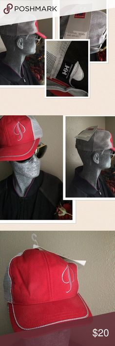🆕 HH Helly Hansen Trucker Hat Baseball 🆕 HJ Helly Hansen Trucker baseball hat. Mesh design with snap back closure. Appears to be one size. Color: Gray and red. Helly Hansen Accessories Hats