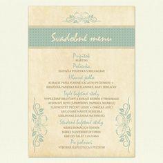 """Svadobné menu """"I ♥ vintage"""""""