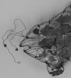 Floating fish - Abd A. Script S, Islamic, Wire, Paintings, Contemporary, Abstract, Gallery, Sculptures, Summary