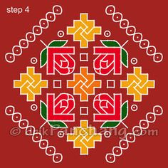 Dot Rangoli Step 4