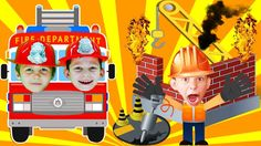 Little Heroes to the rescue Little Builders ! Fire Truck Cartoon | Video...