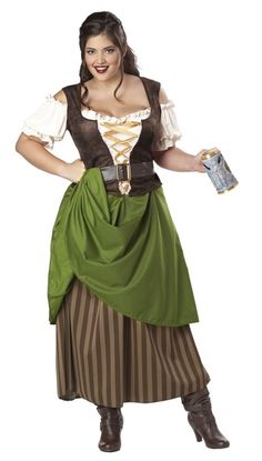 "Tavern Maiden Beer Wench PIRATE Adult Women's Renaissance Fair Costume Plus Size//  would like an outfit similar to this, but not ""Costume"" quality"