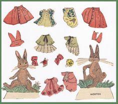 Ingrids Påklædningsdukker: Storskovens Dyr
