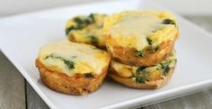 Spinach And Dubliner Cheese Egg Cups | KitchenDaily.com.     Use Mootopia for lighter calorie count.