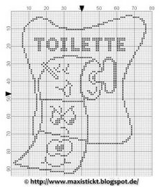 Toilette - wc - point de croix-cross stitch - Blog : http://broderiemimie44.canalblog.com/