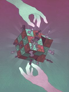 """Mindgames"" Art Print by Miguel Co on Society6."