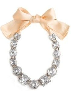 Kate Spade diamond necklace with bow