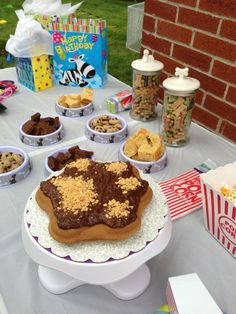 Dog Birthday Dessert Table