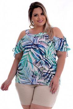 Blusa Plus Size Mil Folhas