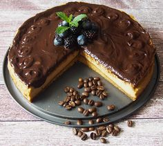 Kavový cheesecake OK Cake Recept, Cheesecake Cupcakes, Healthy Cookies, Pavlova, Cheesecakes, Baked Goods, Food And Drink, Yummy Food, Sweets