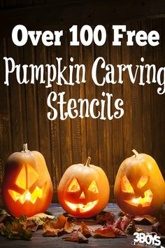 Over 100 free pumpkin carving stencils -Patterns and a tutorial for Halloween Crafts - Creepy Fall Art ideas make decorating for Halloween Easy!