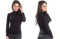 Classic Fitted Seamless Turtleneck Top - 8 Colors! 53% off at Groopdealz