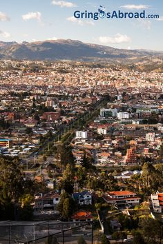 Overview of Cuenca Ecuador from the Turi look-off.   http://www.gringosabroad.com/parishes-parroquia-cuenca-ecuador/ #ecuador #cuenca