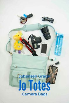 Why Every Woman needs a Johansen Gracie Camera Bag: it makes a great carry on for travels, or a diaper bag for those with little ones, and if you are a photographer, you need at least one of these!