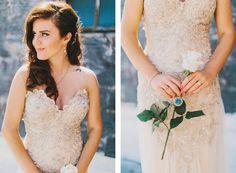 Gold Wedding Dress. DIY wedding gown.