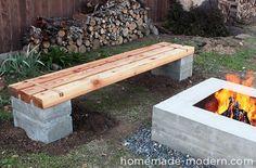 HomeMade Modern DIY Outdoor Concrete Bench Options