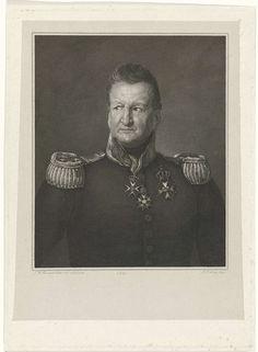 Johannes Philippus Lange | Portret van David Hendrik Baron Chassé, Johannes Philippus Lange, 1832 | Portretbuste van voren van David Hendrik Chassé, luitenant-generaal en verdediger van de Citadel van Antwerpen, in uniform.